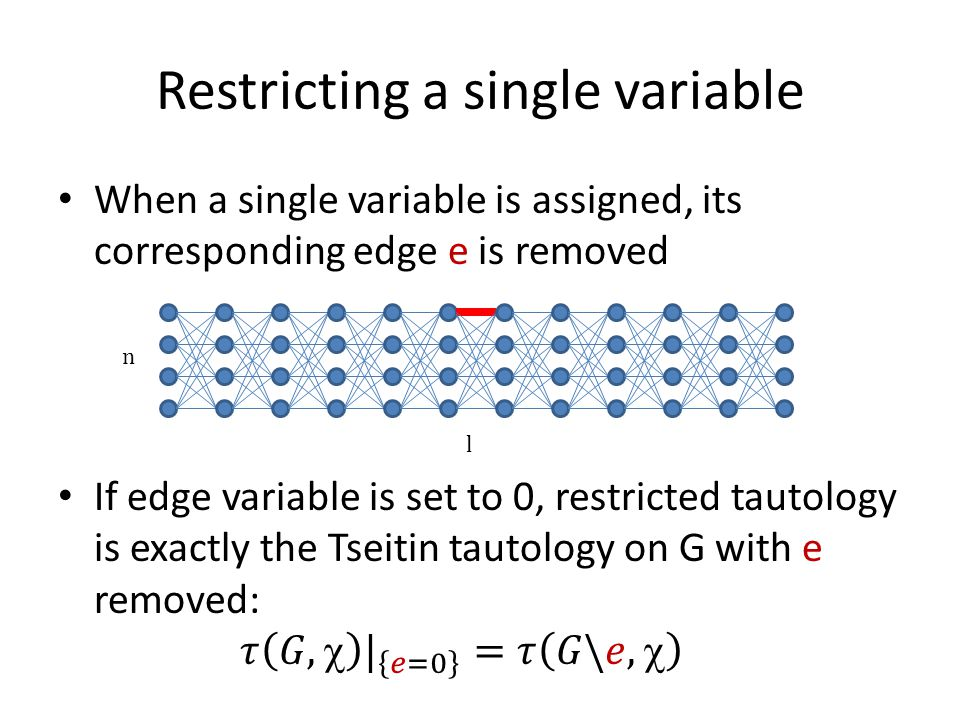 Restricting a single variable l n