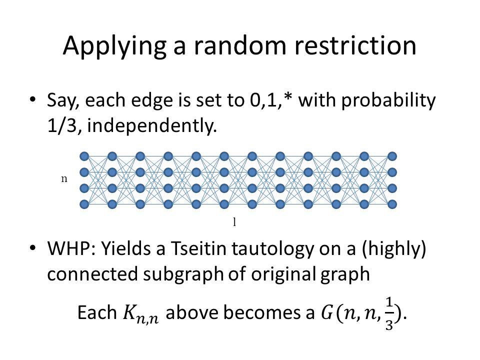 Applying a random restriction l n