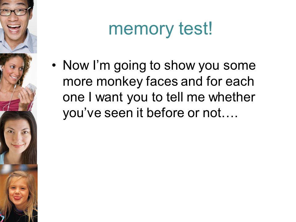 memory test.