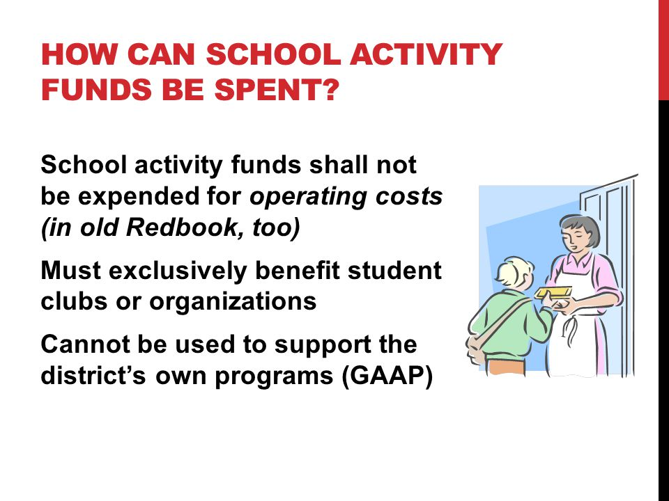 HOW CAN SCHOOL ACTIVITY FUNDS BE SPENT.