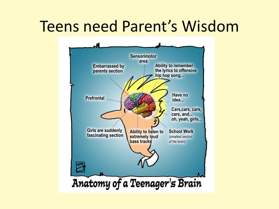 Teens need Parent's Wisdom