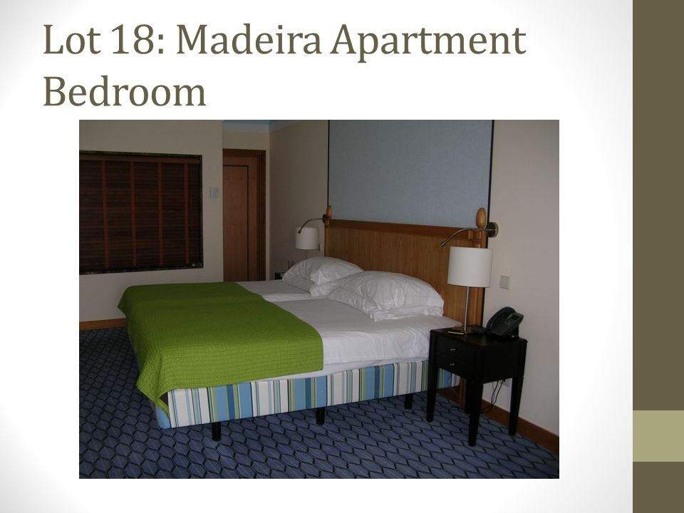 Lot 18: Madeira Apartment Bedroom