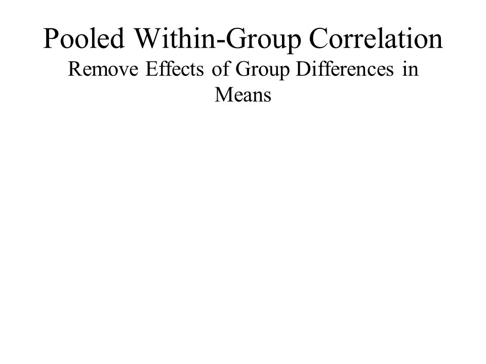 Pooled Within-Group Correlation Remove Effects of Group Differences in Means