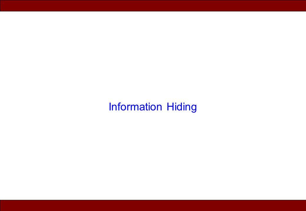 © 2010 Noah Mendelsohn Information Hiding