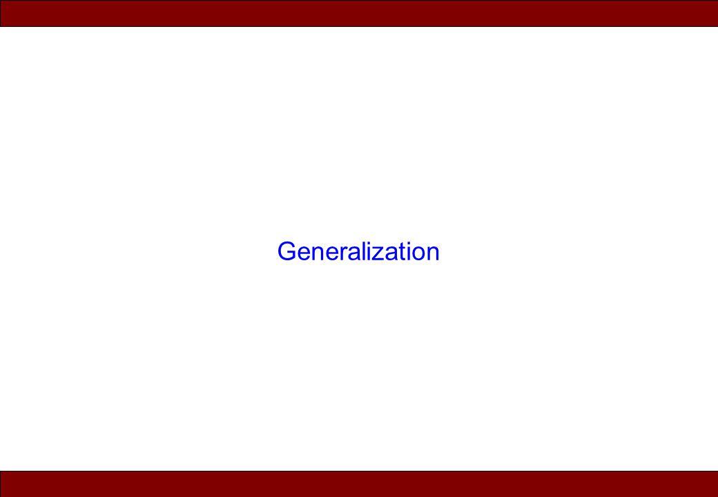 © 2010 Noah Mendelsohn Generalization