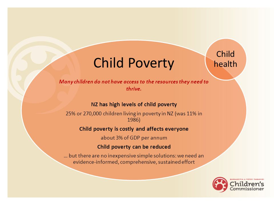 Child Poverty Many children do not have access to the resources they need to thrive.