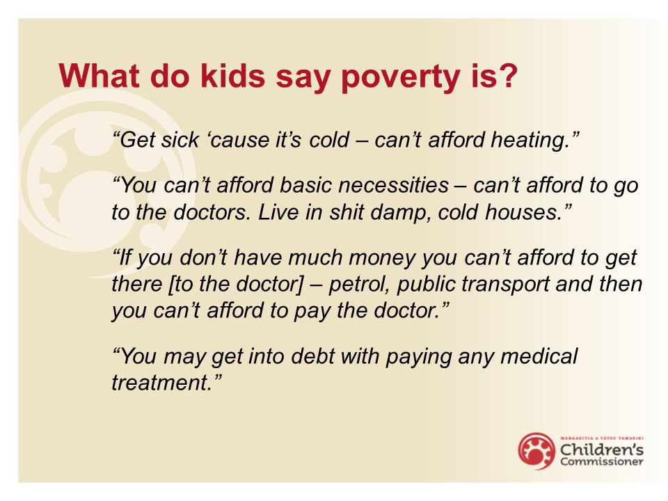 What do kids say poverty is.