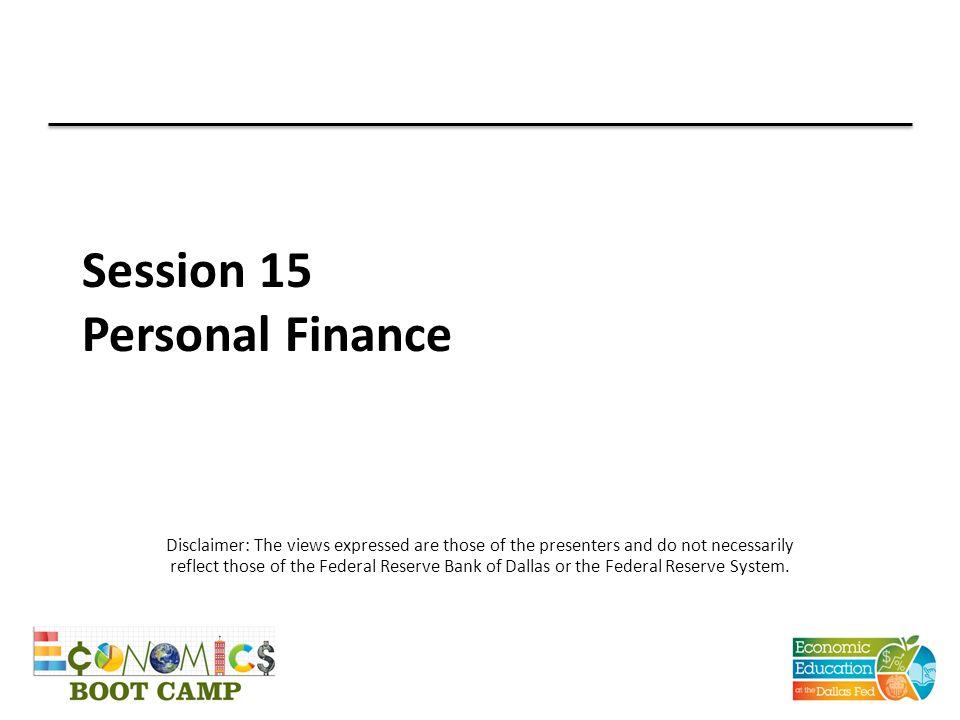 TEKS (18) Personal financial literacy.