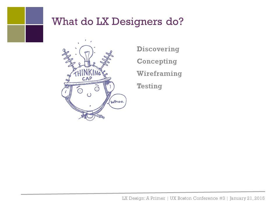 What do LX Designers do.