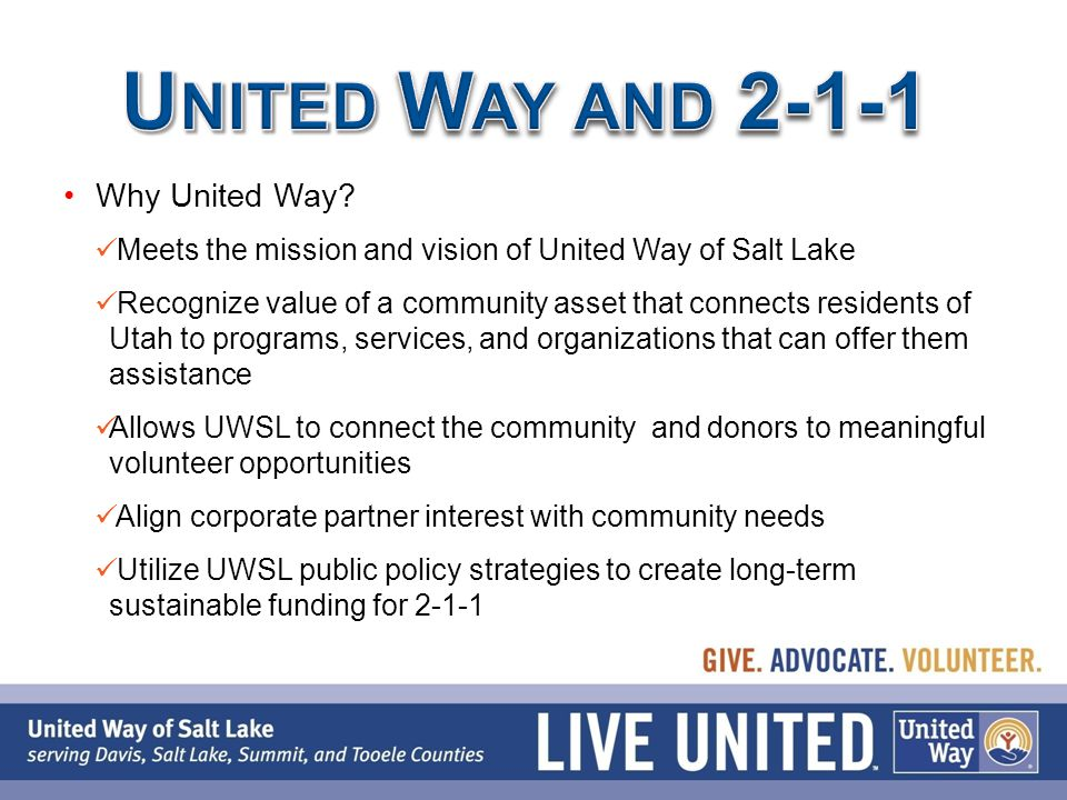 Why United Way.