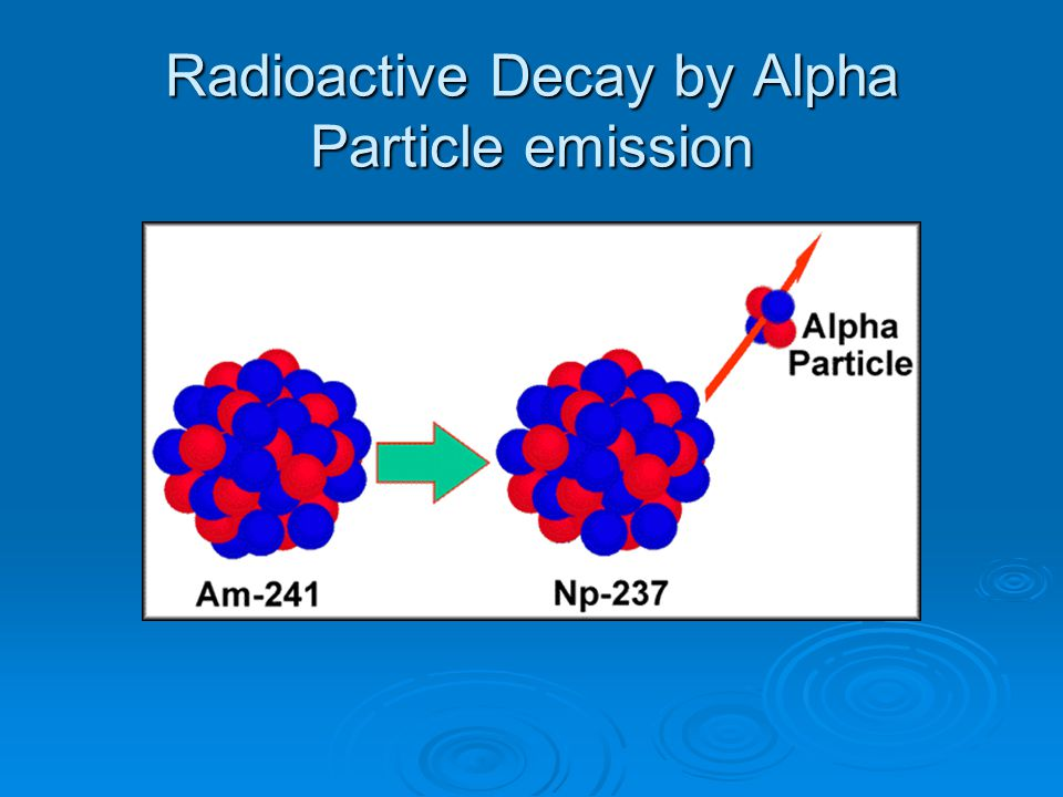 Radioactive Decay by Alpha Particle emission