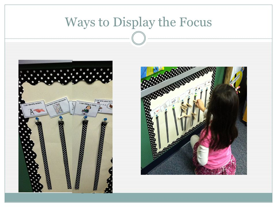 Ways to Display the Focus