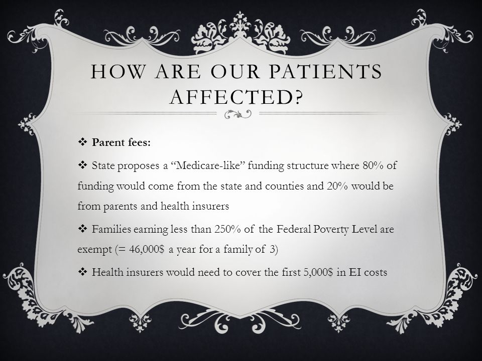 HOW ARE OUR PATIENTS AFFECTED.