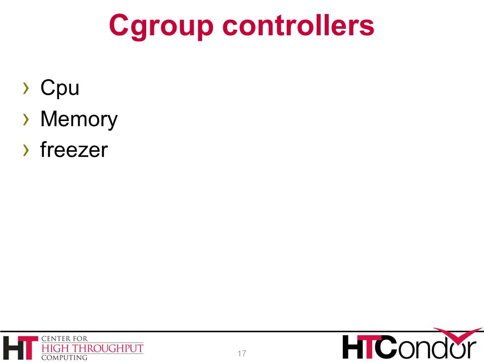 › Cpu › Memory › freezer Cgroup controllers 17