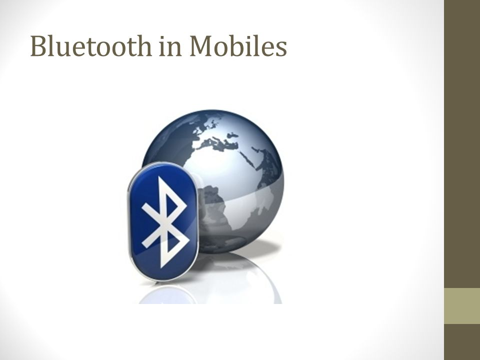 Bluetooth in Mobiles