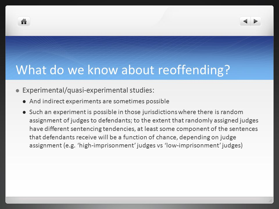 What do we know about reoffending.
