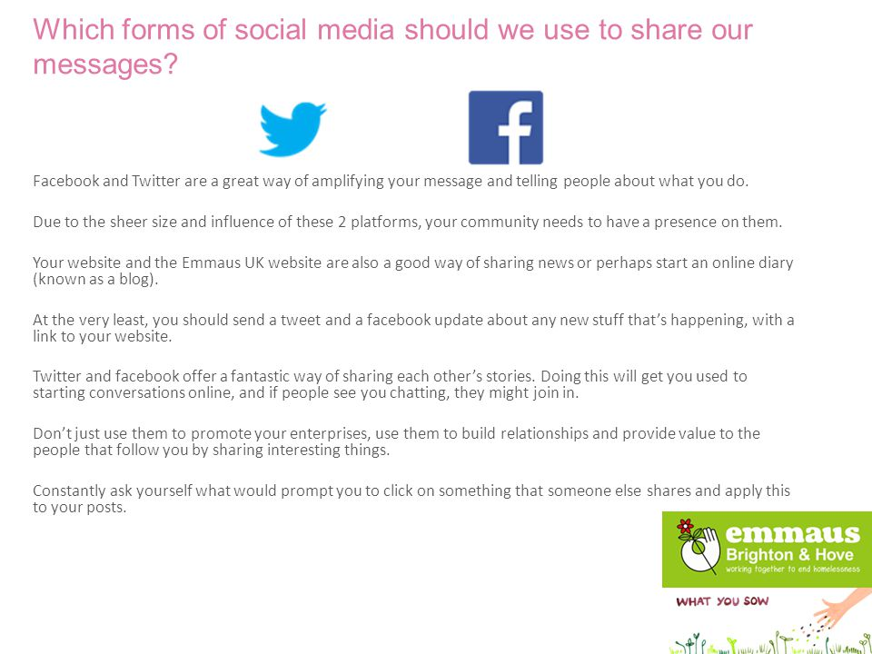 1.What gives you a buzz about twitter / facebook.