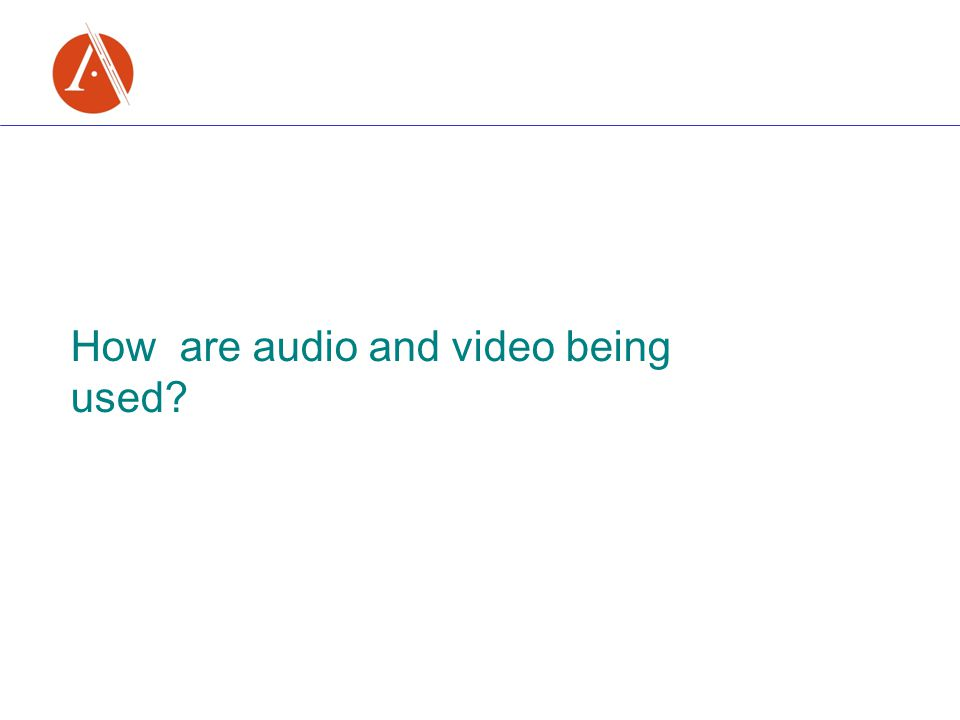 How are audio and video being used