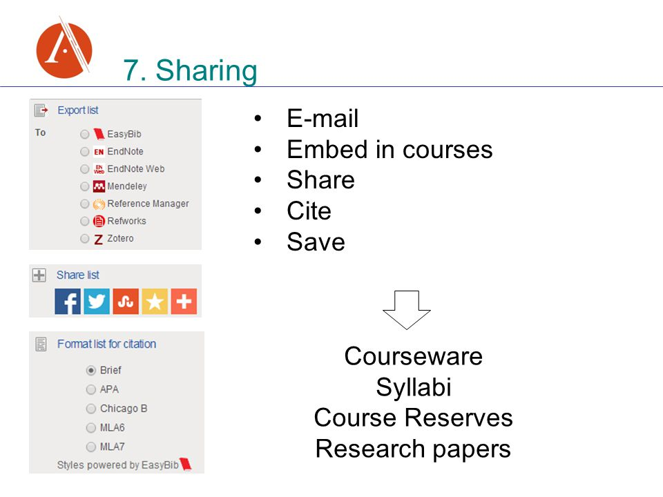 Embed in courses Share Cite Save 7.