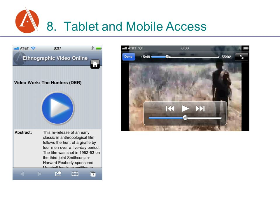 8. Tablet and Mobile Access