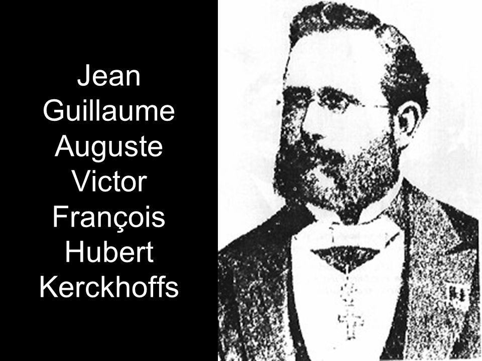 Jean Guillaume Auguste Victor François Hubert Kerckhoffs