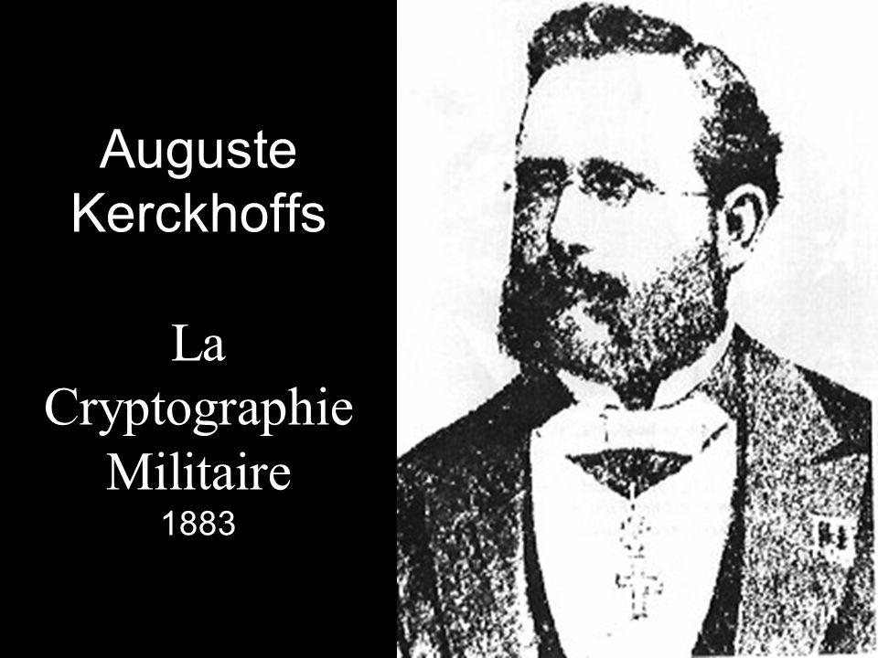 Auguste Kerckhoffs La Cryptographie Militaire 1883