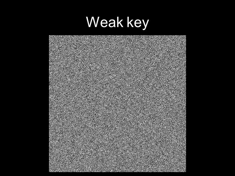 Weak key
