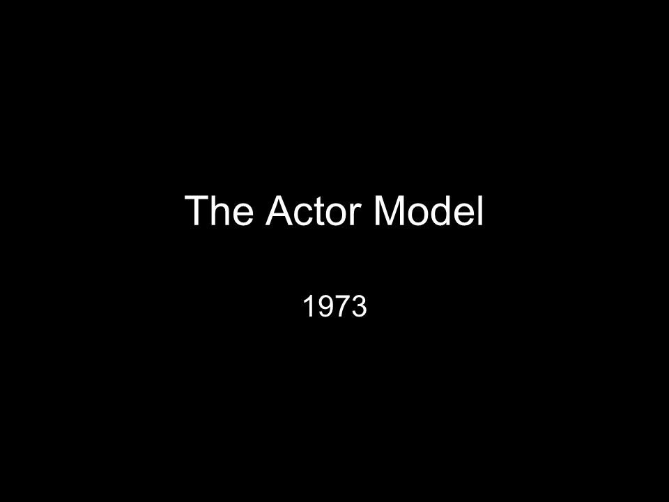 The Actor Model 1973