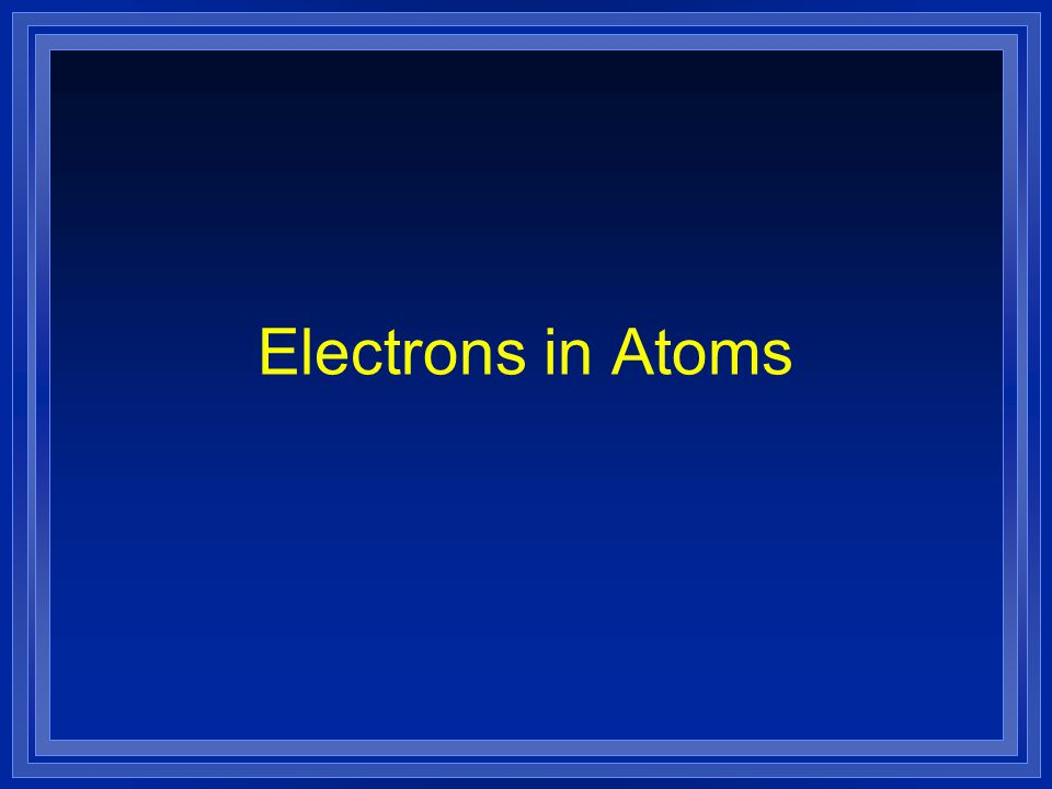 Models of the Atom OBJECTIVE: l Summarize the development of atomic theory.