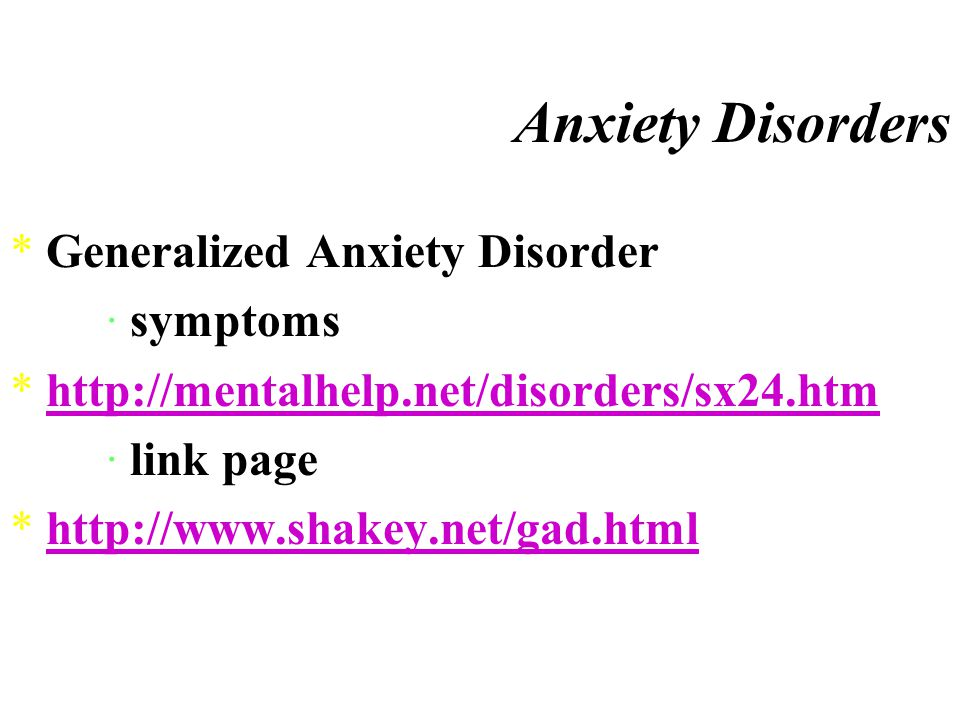 Anxiety Disorders *Obsessive-Compulsive Disorder *Obsession ¤a thought or idea that keeps recurring in one's mind *Compulsion ¤an urge to repeatedly carry out some act that seems strange and unreasonable, even if the sufferer realizes it is unreasonable