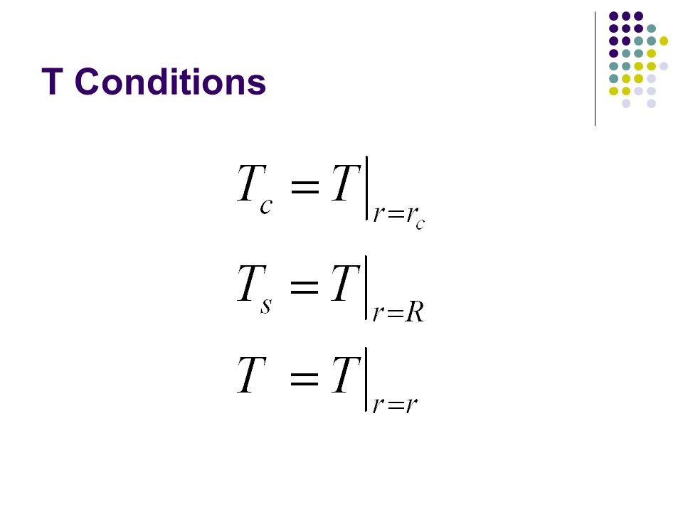 T Conditions