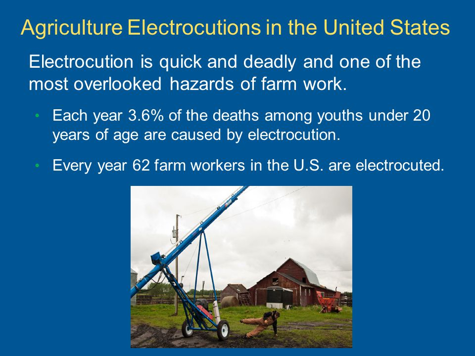 Each year 3.6% of the deaths among youths under 20 years of age are caused by electrocution.