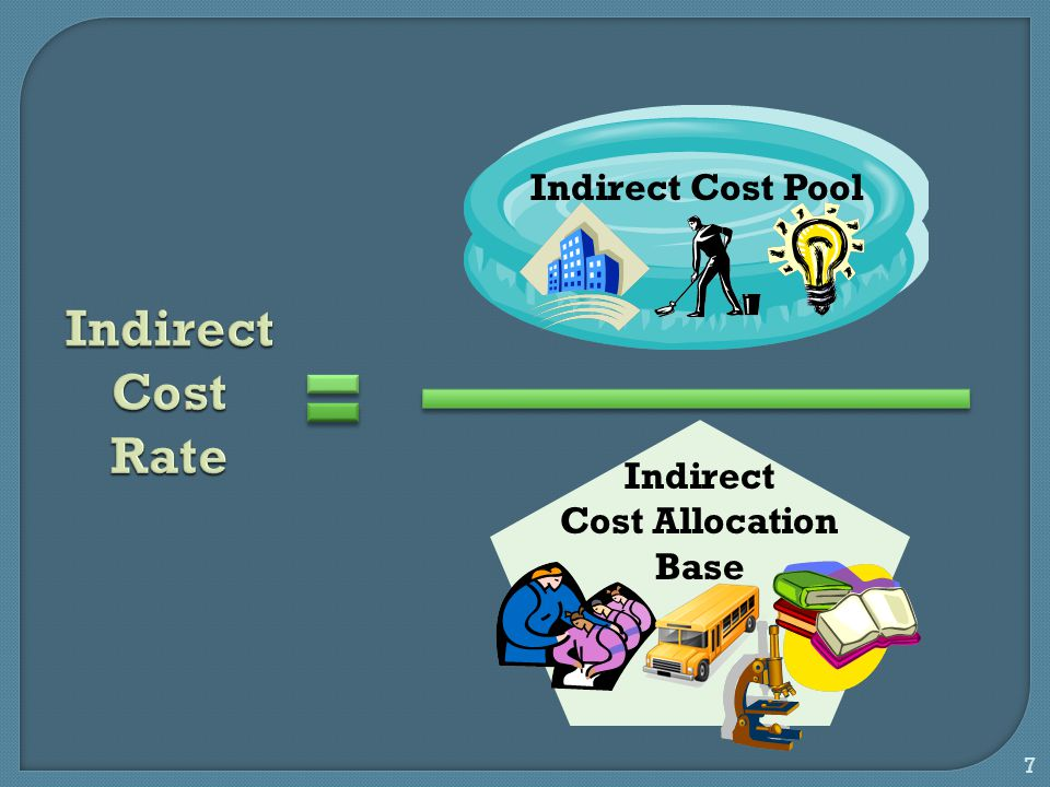 7 Indirect Cost Rate Indirect Cost Pool Indirect Cost Allocation Base