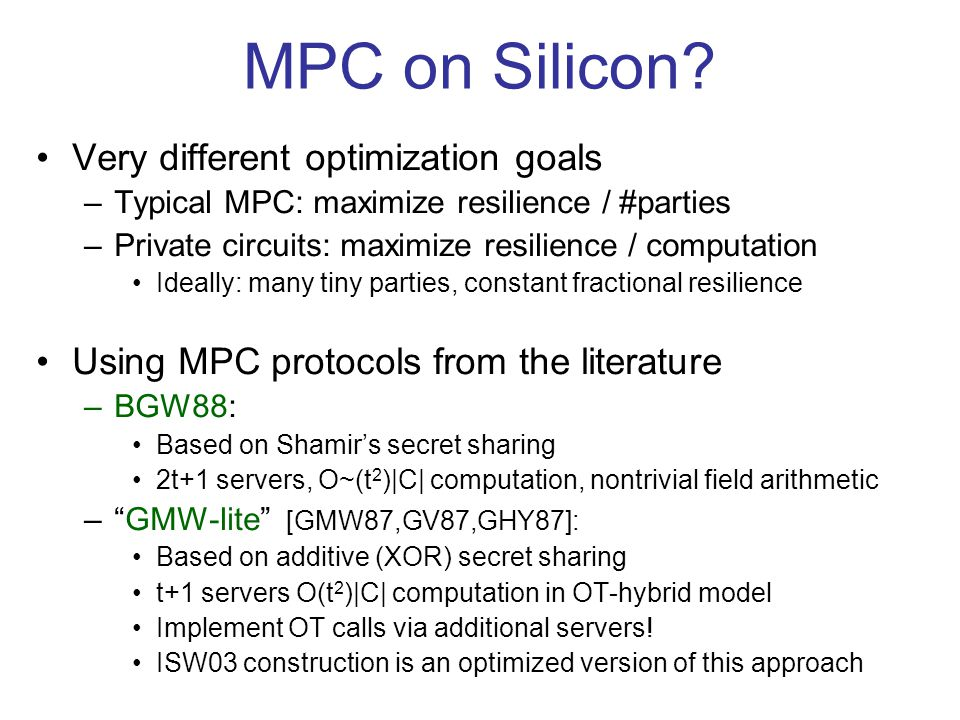 MPC on Silicon.