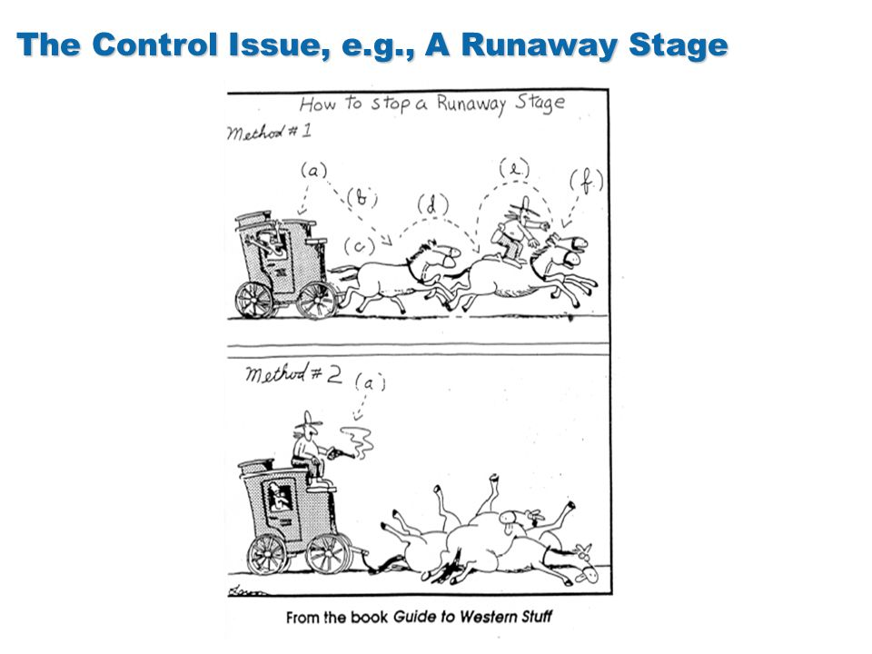 The Control Issue, e.g., A Runaway Stage