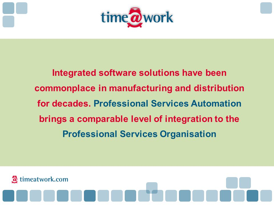 Integrated software solutions have been commonplace in manufacturing and distribution for decades.