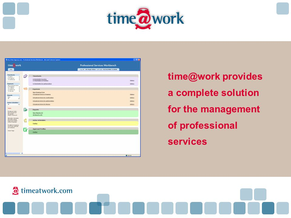 time@work provides a complete solution for the management of professional services