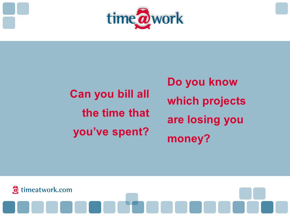 Do you know which projects are losing you money