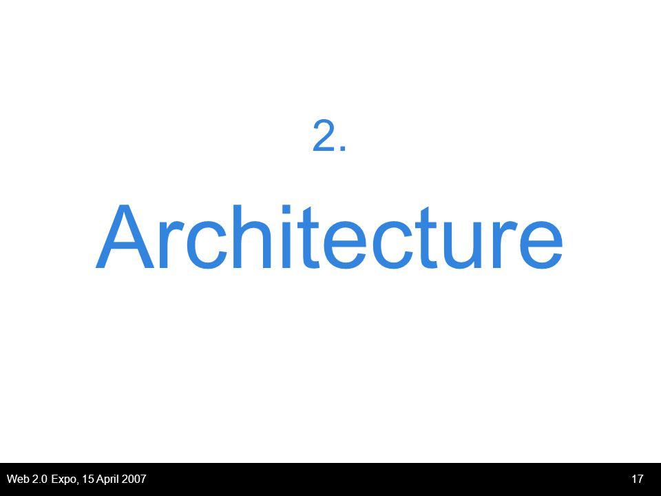 Web 2.0 Expo, 15 April 200717 2. Architecture