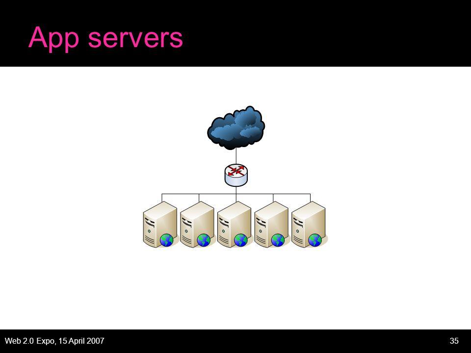 Web 2.0 Expo, 15 April 200735 App servers