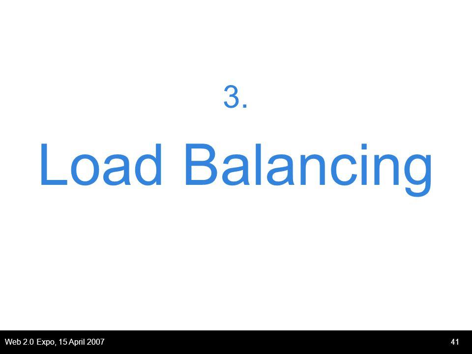 Web 2.0 Expo, 15 April 200741 3. Load Balancing
