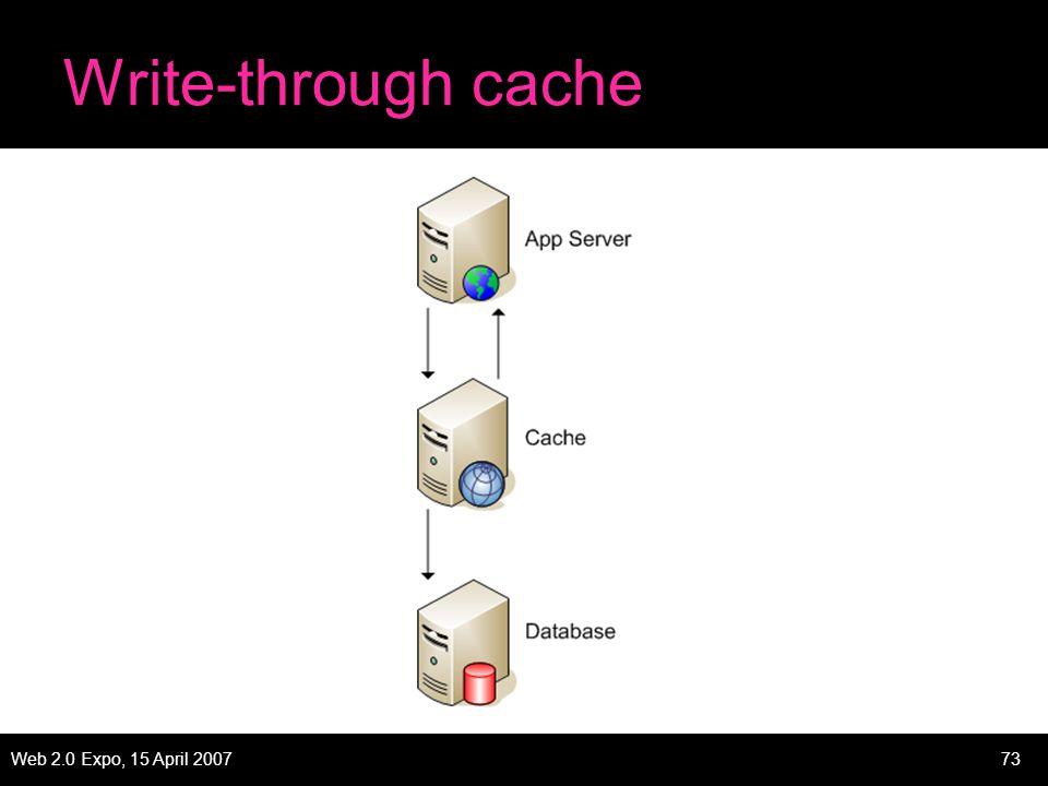 Web 2.0 Expo, 15 April 200773 Write-through cache