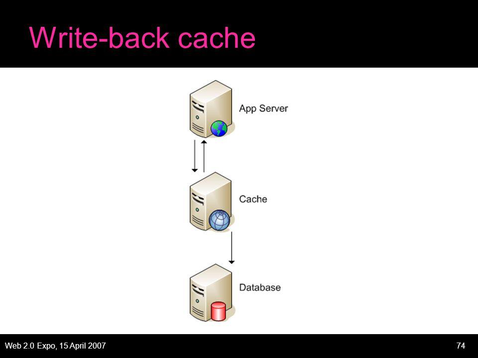 Web 2.0 Expo, 15 April 200774 Write-back cache