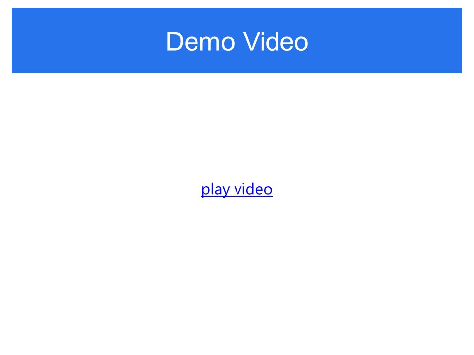Demo Video play video