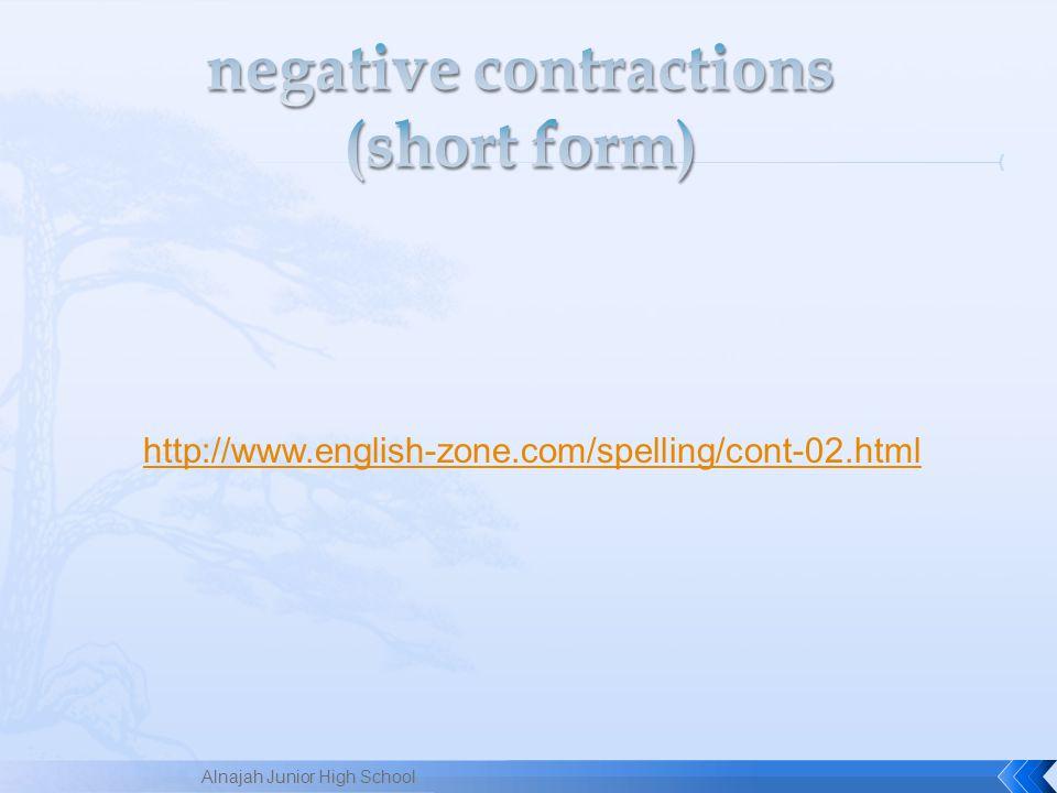 http://www.english-zone.com/spelling/cont-02.html Alnajah Junior High School