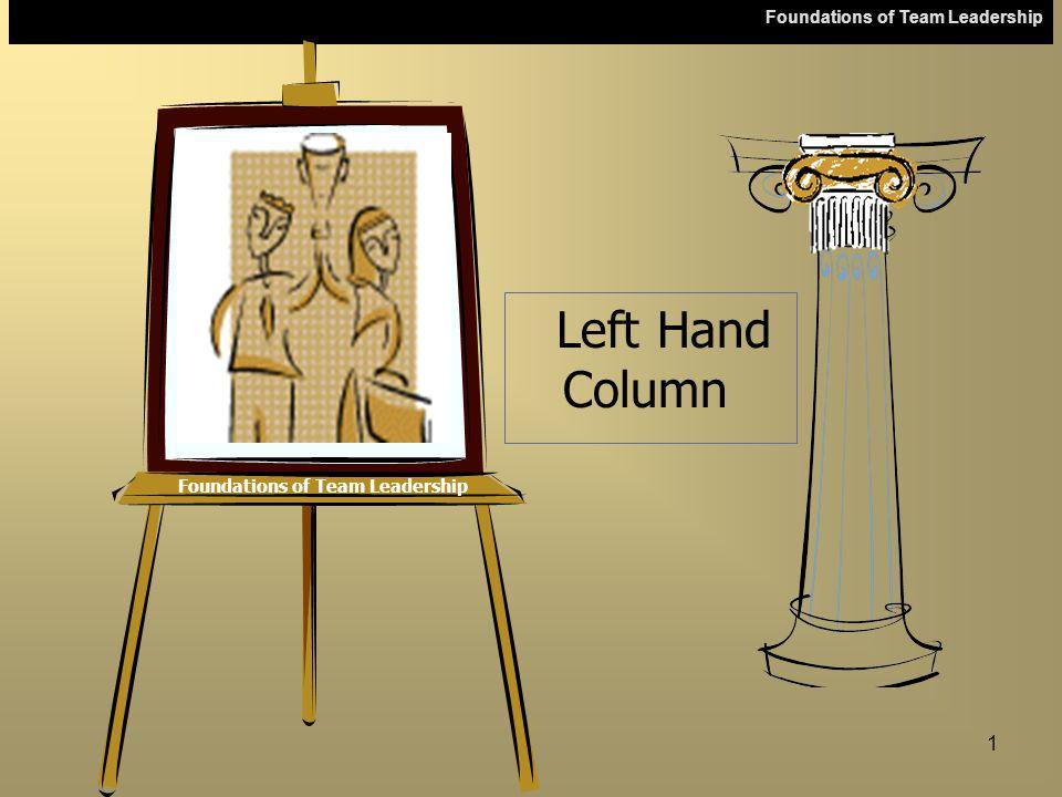 Foundations of Team Leadership 1 Left Hand Column