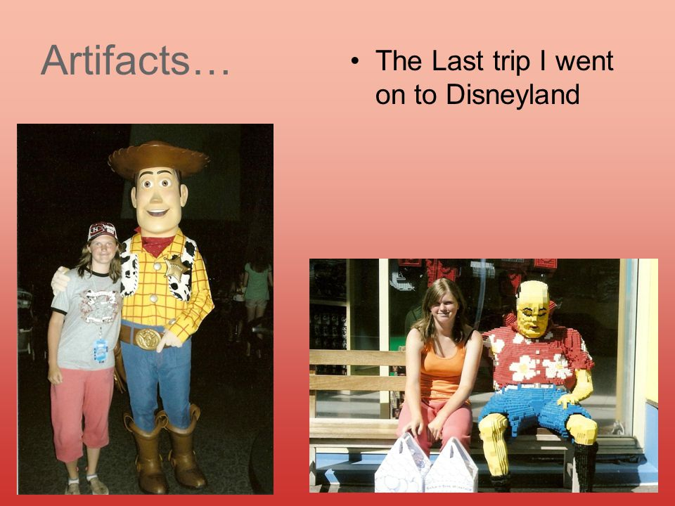 Artifacts… The Last trip I went on to Disneyland