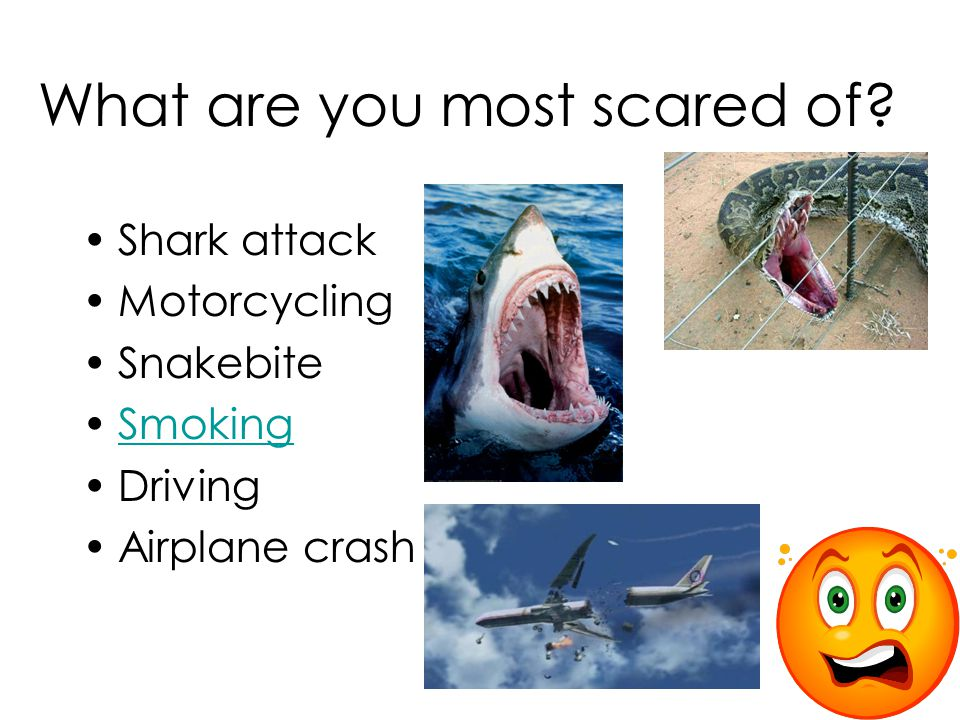 What are you most scared of.