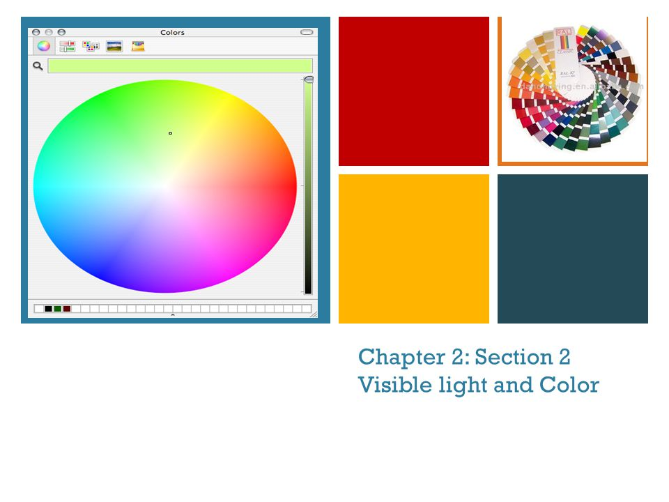 + Chapter 2: Section 2 Visible light and Color