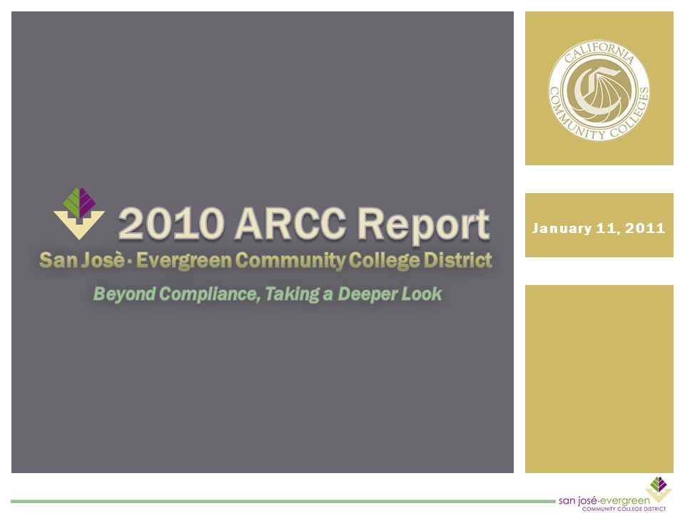 OVERVIEW OF ARCC ACCOUNTABILITY REPORT FOR COMMUNITY COLLEGES Accountability for Student Outcomes Mandated by Law